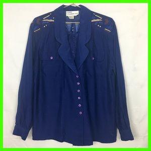 Vintage Western Style Silk Button Down :8